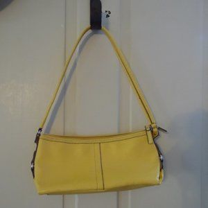 Vegan Leather Sunshine Yellow Relic Shoulder Bag